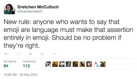 emoji language tweet