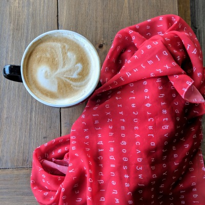 IPA scarf in red