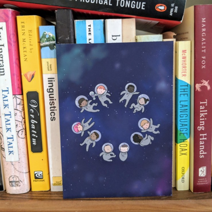 space babies bookshelfie